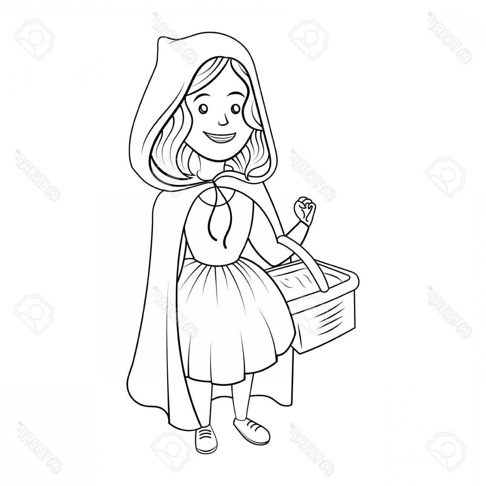 1560x1560 Photostock Vector Little Red Riding Hood Coloring Book Vector