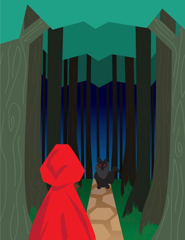 612x791 Red Riding Hood By Schlissel Art