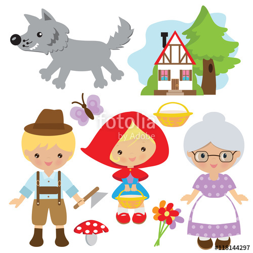 500x500 Red Riding Hood Vector Illustration Stock Image And Royalty Free