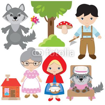 400x400 Red Riding Hood Vector Cartoon Illustration Buy Photos Ap