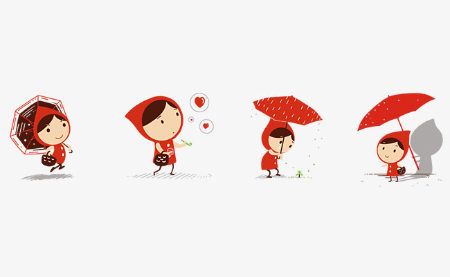 650x400 Free Pull Vector Little Red Riding Hood, Vector, Photos, Lovely