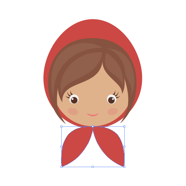 600x600 How To Draw Little Red Riding Hood With Basic Shapes In Adobe