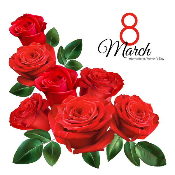 600x600 Mothers Day Card With Red Rose Vector 03 Free Download