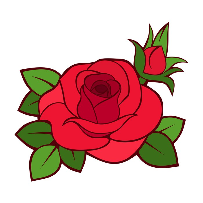 700x700 Red Rose. Vector Illustration. Wall Mural We Live To