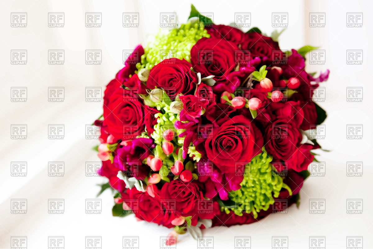 1200x801 Wedding Bouquet Of Red Roses Vector Image Vector Artwork Of