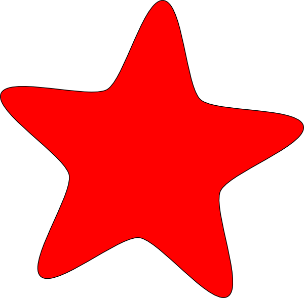 600x589 Red Star Clipart