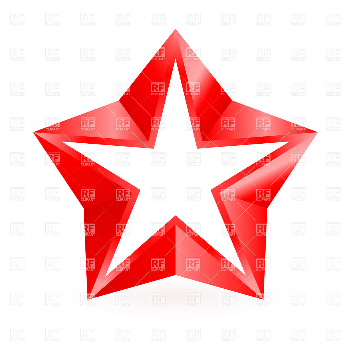 1200x1200 Shiny Red Star On White Background Vector Image Vector Artwork