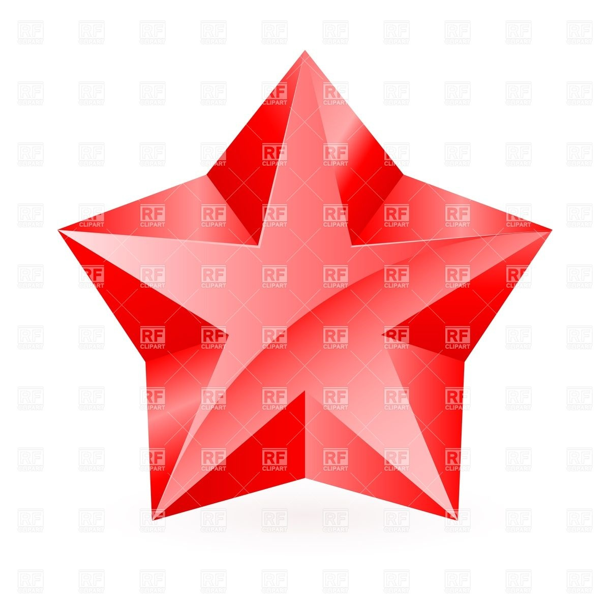 1200x1200 Thick Shiny Red Star On White Background Vector Image Vector