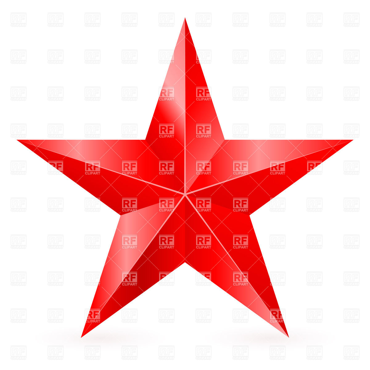 1200x1200 Five Pointed Red Star Vector Image Vector Artwork Of Design