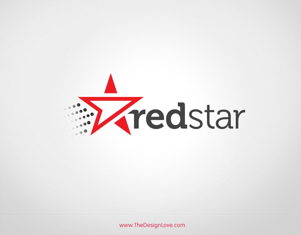 1024x800 Free Vector Redstar Logo For Start Up
