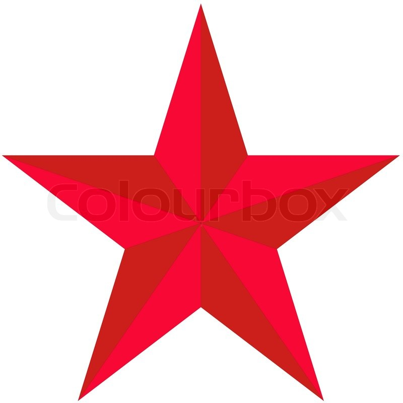 800x800 On White Background, The Red Star Stock Vector Colourbox