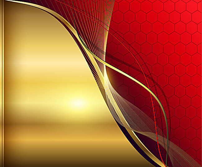 650x538 Gold Metallic Red Vector Background, Golden, Red, Dynamic