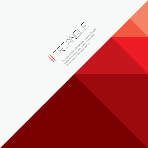 600x600 Red Triangle Background Vector Image Free Vectors
