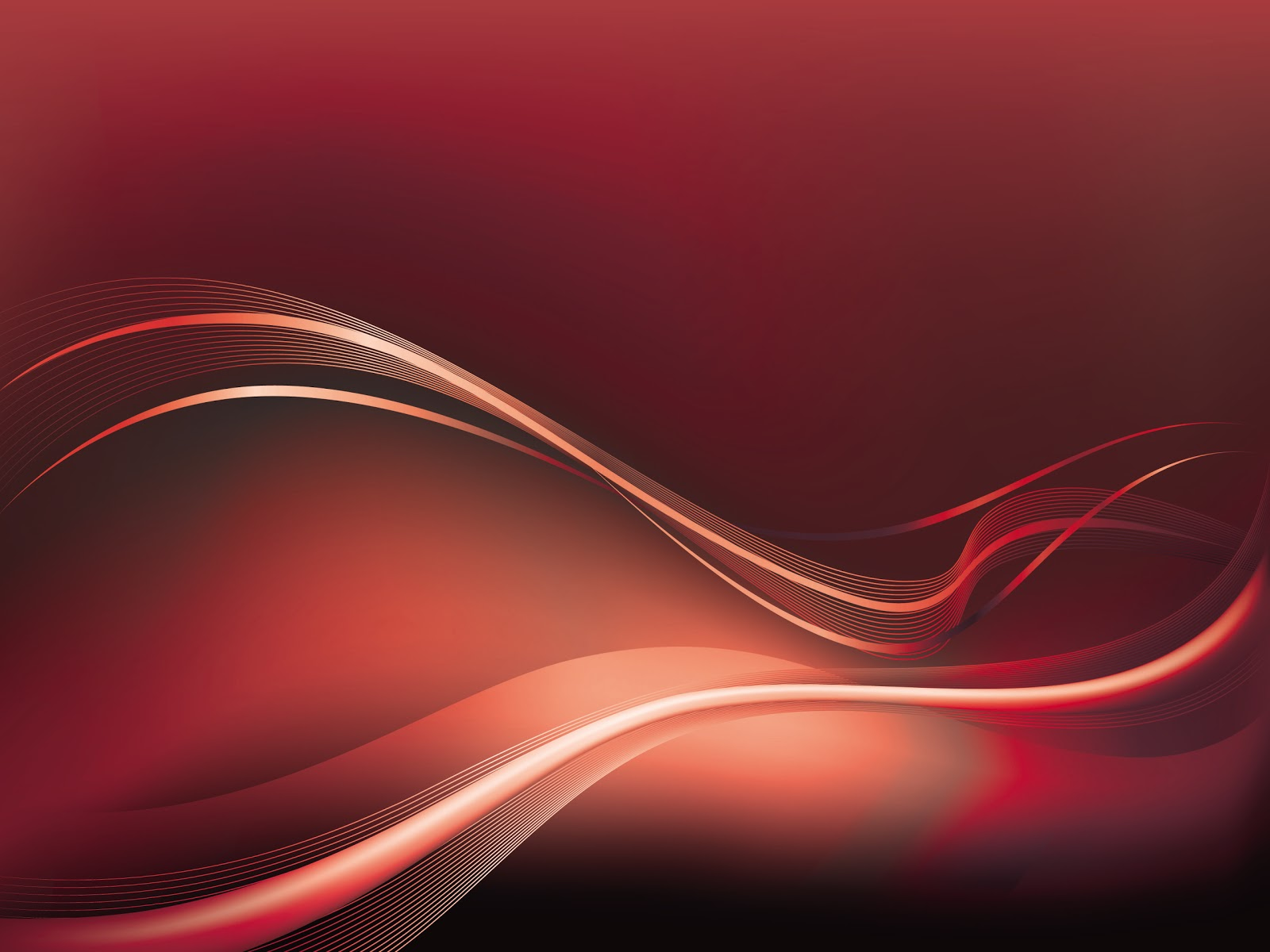 1600x1200 Red Waves And Lines Vector Background Hd