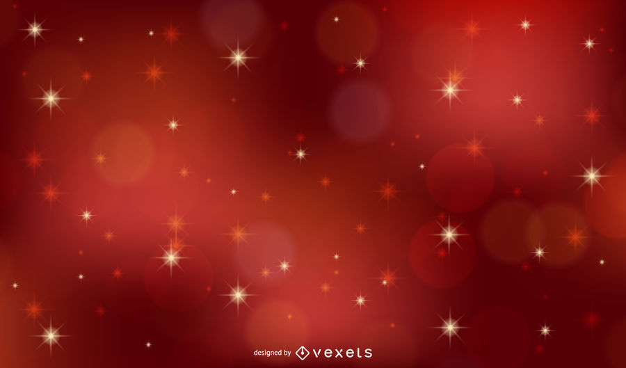 900x529 Red Vector Xmas Background With Stars