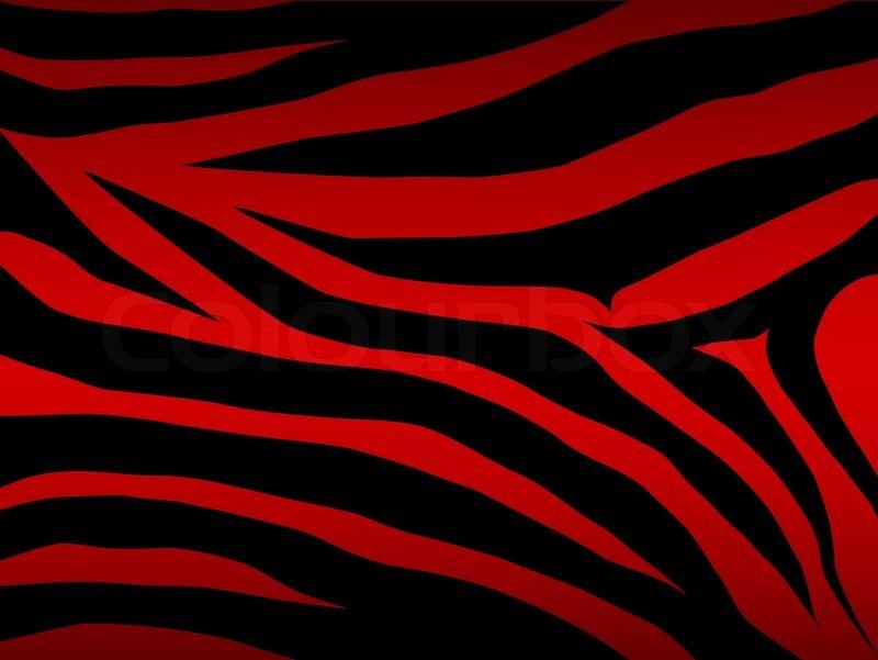 800x601 Vector Zebra Background In Red Stock Vector Colourbox