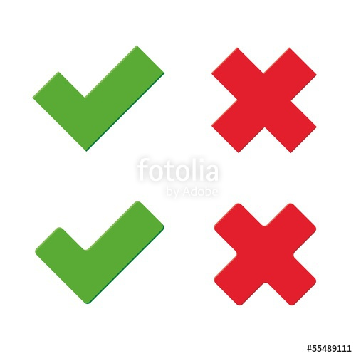 500x500 Green Tick And Red X Stock Image And Royalty Free Vector Files On