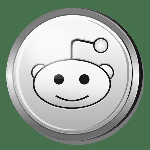 512x512 Reddit Silver Icon