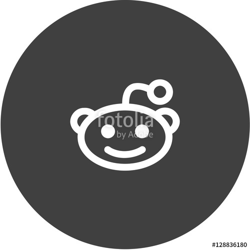 500x500 Reddit Alien Head Logo Icon Stock Image And Royalty Free Vector