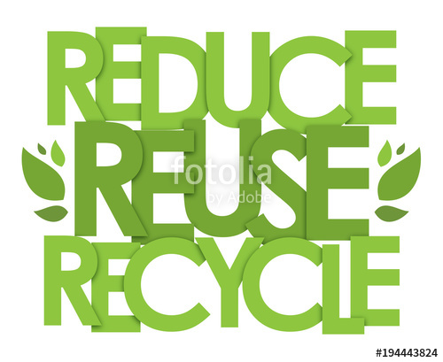 500x409 Reduce Reuse Recycle Typography Poster Stock Image And Royalty