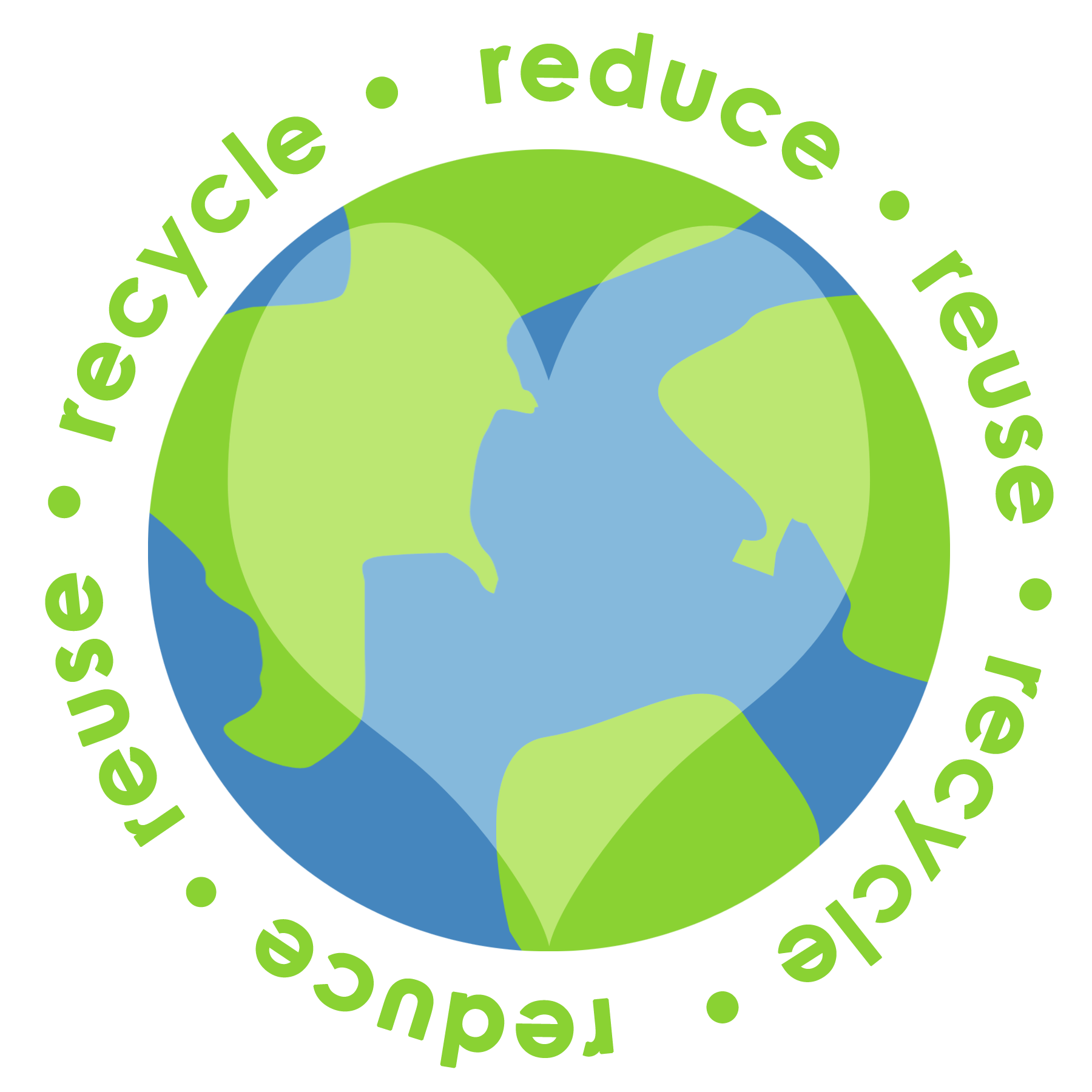 1800x1800 Reduce Reuse Recycle Earth Png Transparent Reduce Reuse Recycle