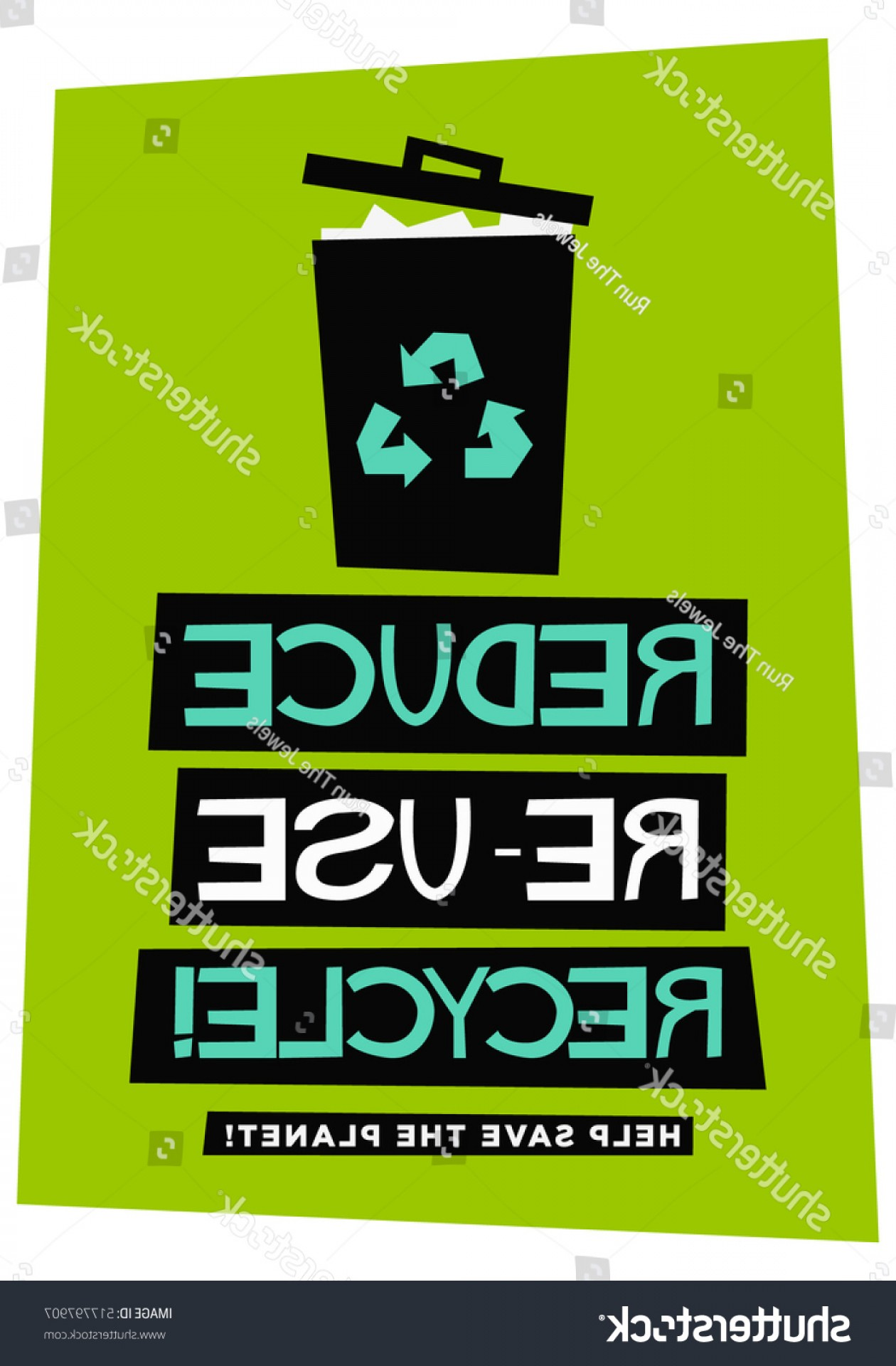 1260x1920 Reduce Reuse Recycle Flat Style Vector Lazttweet