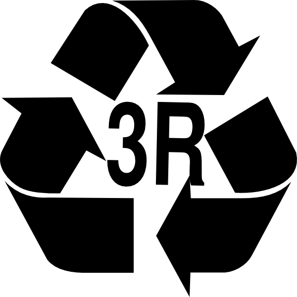 600x600 3r Reduce, Reuse, Recycle Clip Art