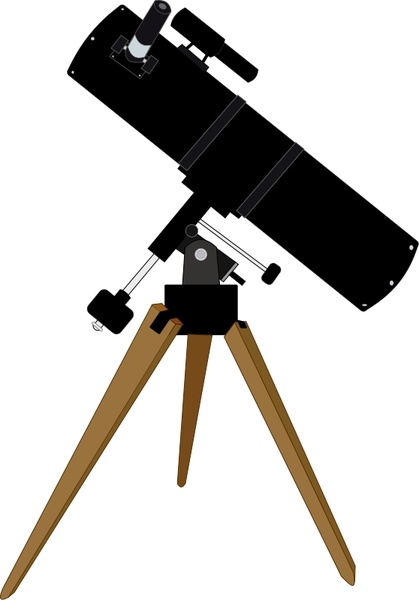 419x600 Reflector Telescope Free Vector In Open Office Drawing Svg ( .svg