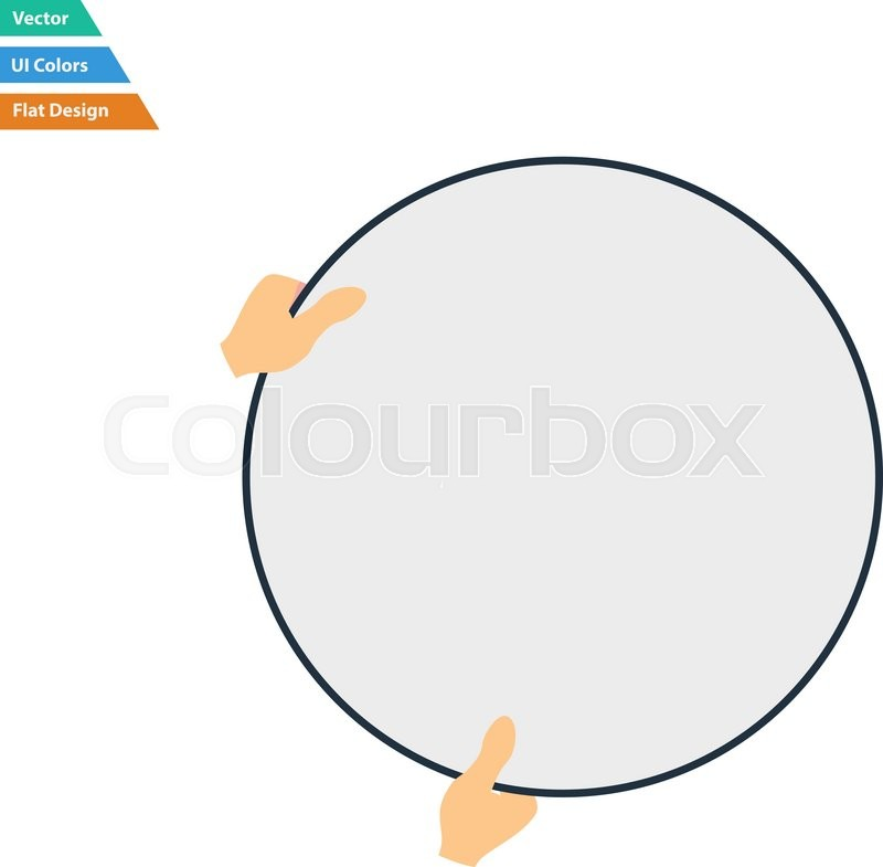 800x785 Flat Design Icon Of Hand Holding Photography Reflector In Ui