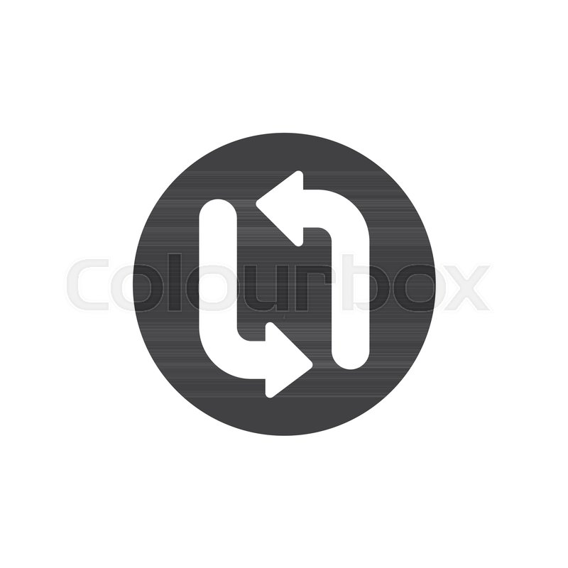 800x800 Arrow Update Refresh Icon Vector, Filled Flat Sign, Solid