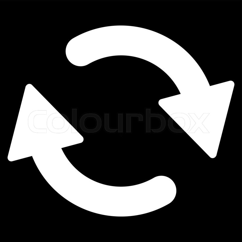 800x800 Refresh Icon From Primitive Set. This Isolated Flat Symbol Is