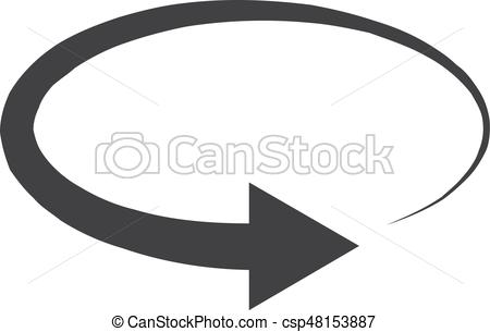 450x305 Refresh Icon In Black On A White Background. Vector Illustration.