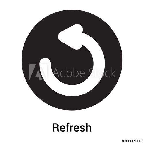 500x500 Refresh Icon Vector Sign And Symbol Isolated On White Background
