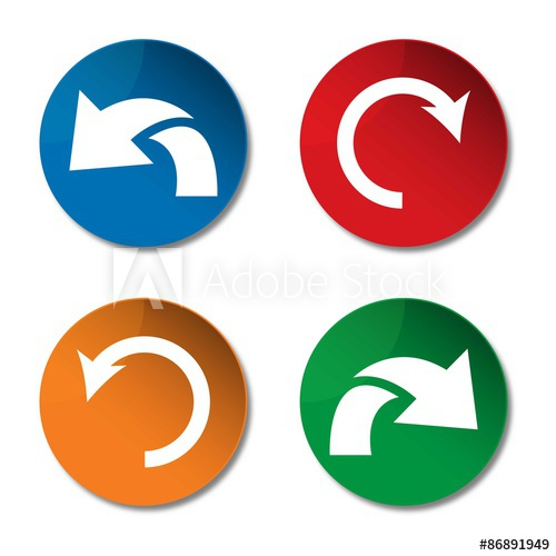 500x500 Undo Icon. Redo Icon. Refresh Icon. Arrow Icon. Vector