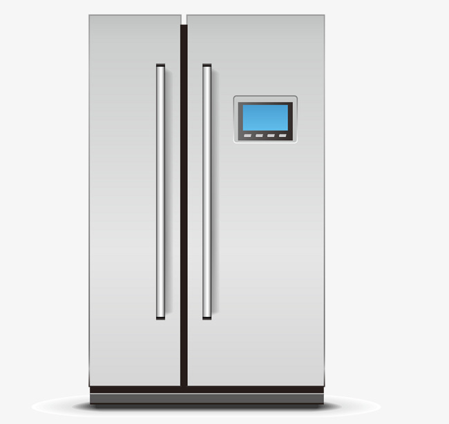 650x614 Double Door Refrigerator Vector, Double Door Refrigerator