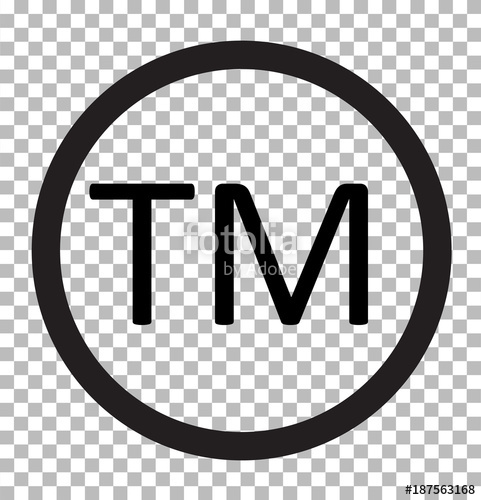 481x500 Trade Mark Isolated On Transparent. Trade Mark Icon Flat Design