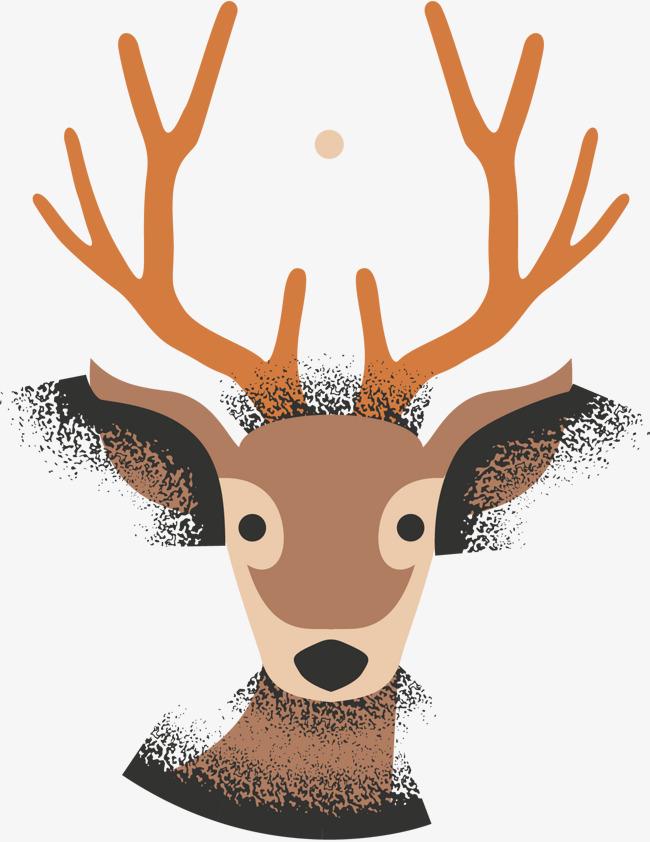 650x842 Hand Painted Reindeer Vector, Hand Vector, Reindeer, Hand Painted
