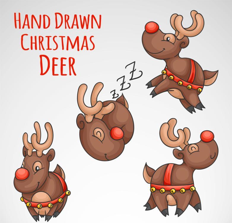 Reindeer Vector Free