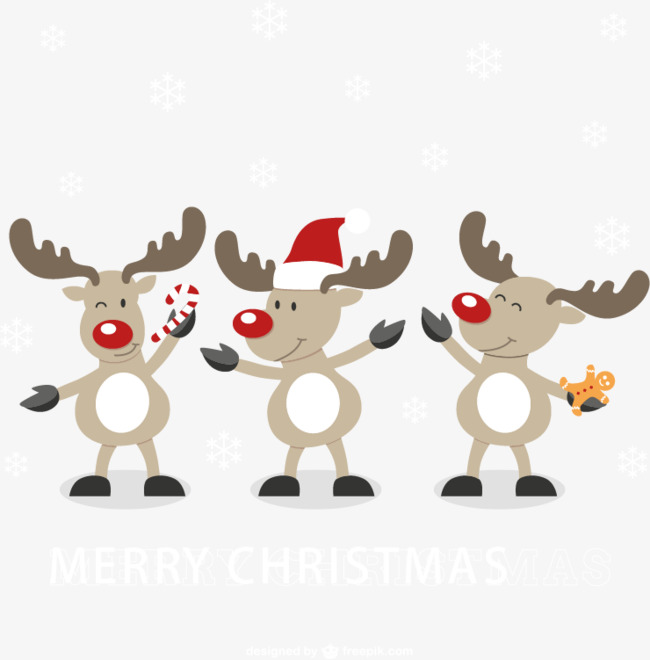 650x660 Cute Cartoon Reindeer Vector Material, Cute Clipart, Cartoon