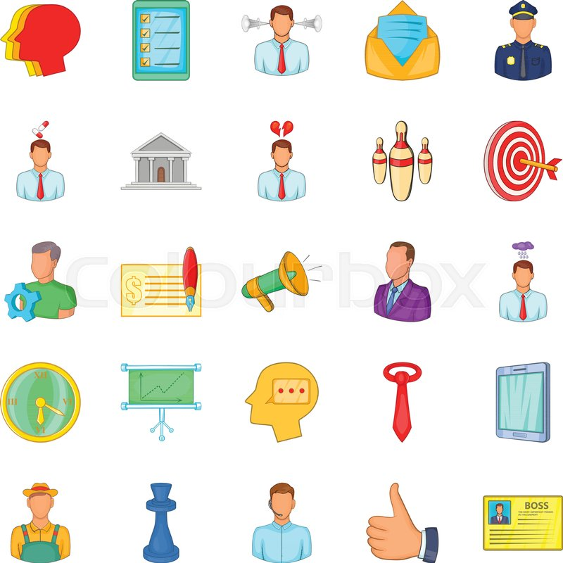800x800 Business Relationship Icons Set. Cartoon Set Of 25 Business
