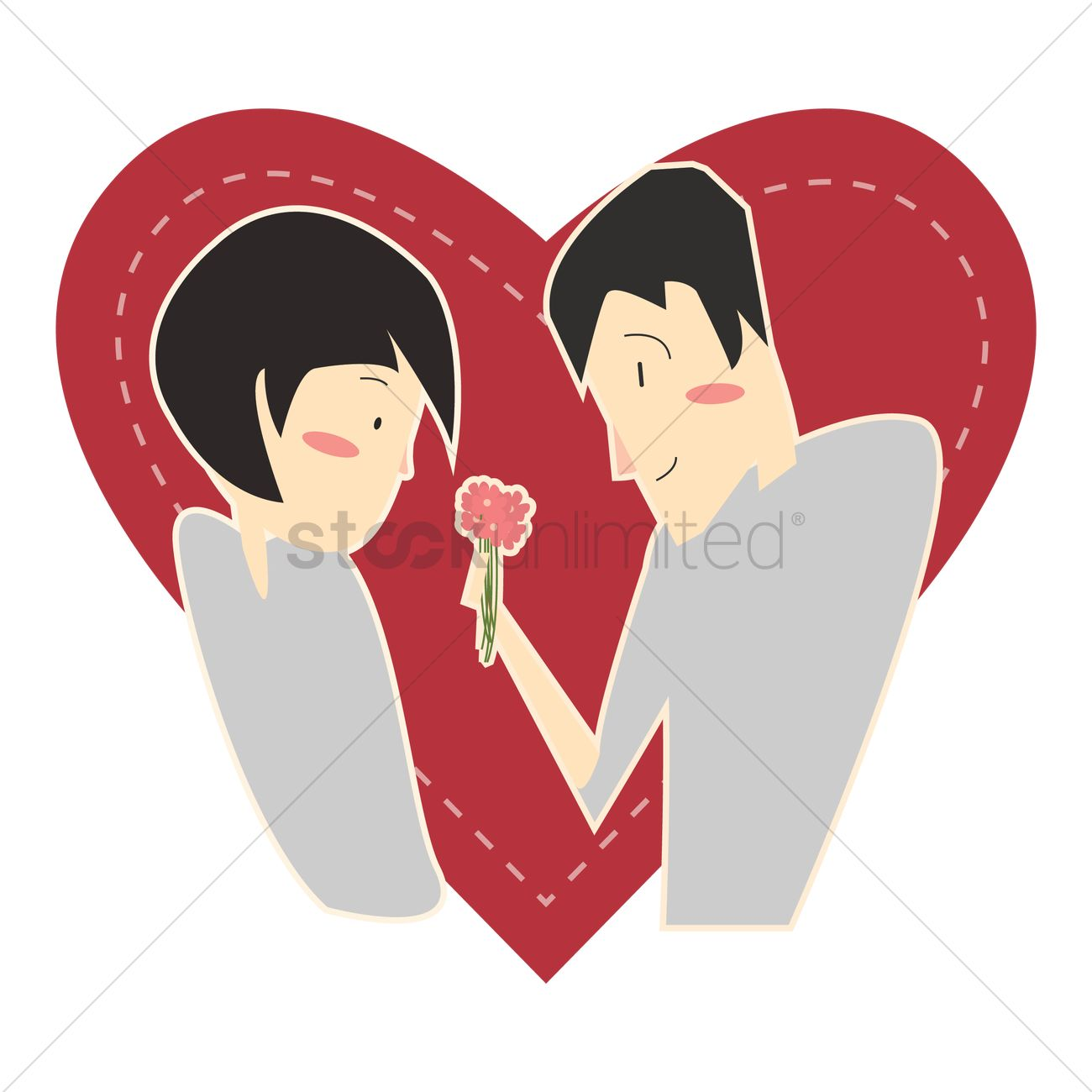 1300x1300 Couple In A Romantic Relationship Vector Image