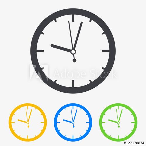 500x500 Icono Plano Reloj En Varios Colores