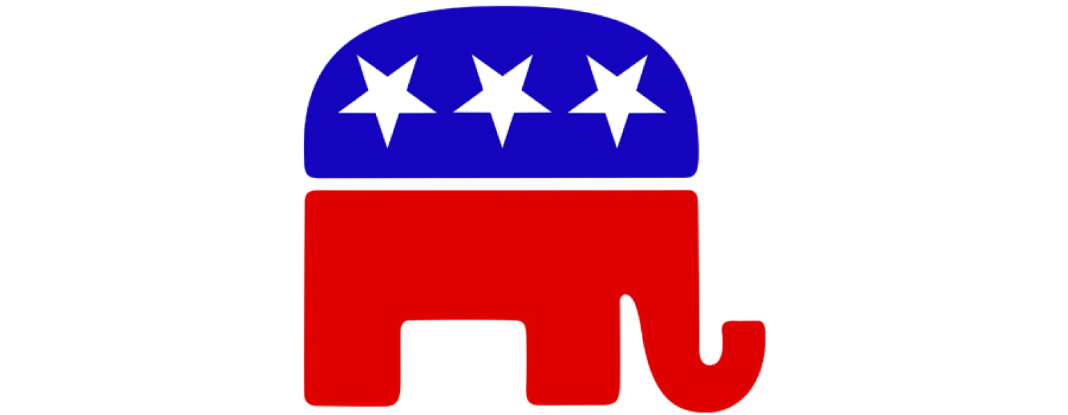 Republican Elephant Vector