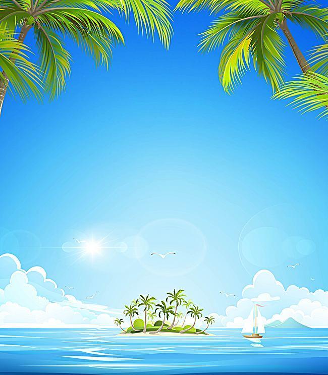 650x743 Fresh Summer Vector Background Ocean Resort, Vector, Great, Fresh