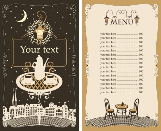 626x511 Restaurant Menu Vector