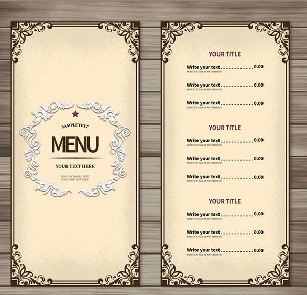 600x576 Simple Restaurant Menu Vector Picture [Ai]