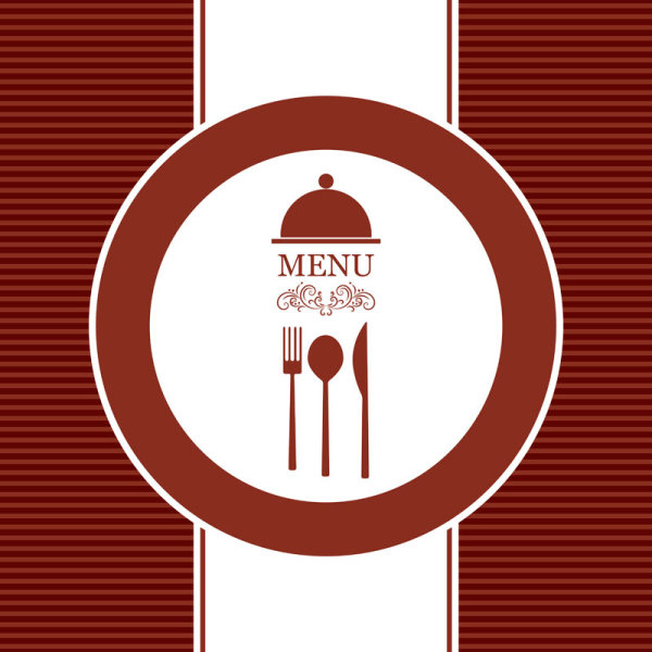 600x600 Commonly Restaurant Menu Cover Template Vector Set 21 Free Download