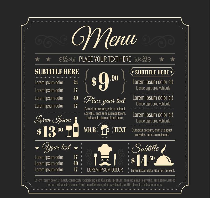 800x752 Creative Restaurant Menu Vector [Ai]