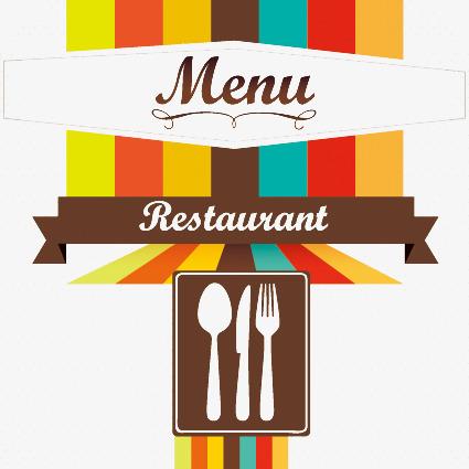 425x425 Restaurant Menu Cover Design, Restaurant Vector, Menu Cover