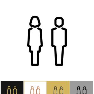 300x300 Man And Woman Toilet Sign Restroom Symbol Vector Arenawp